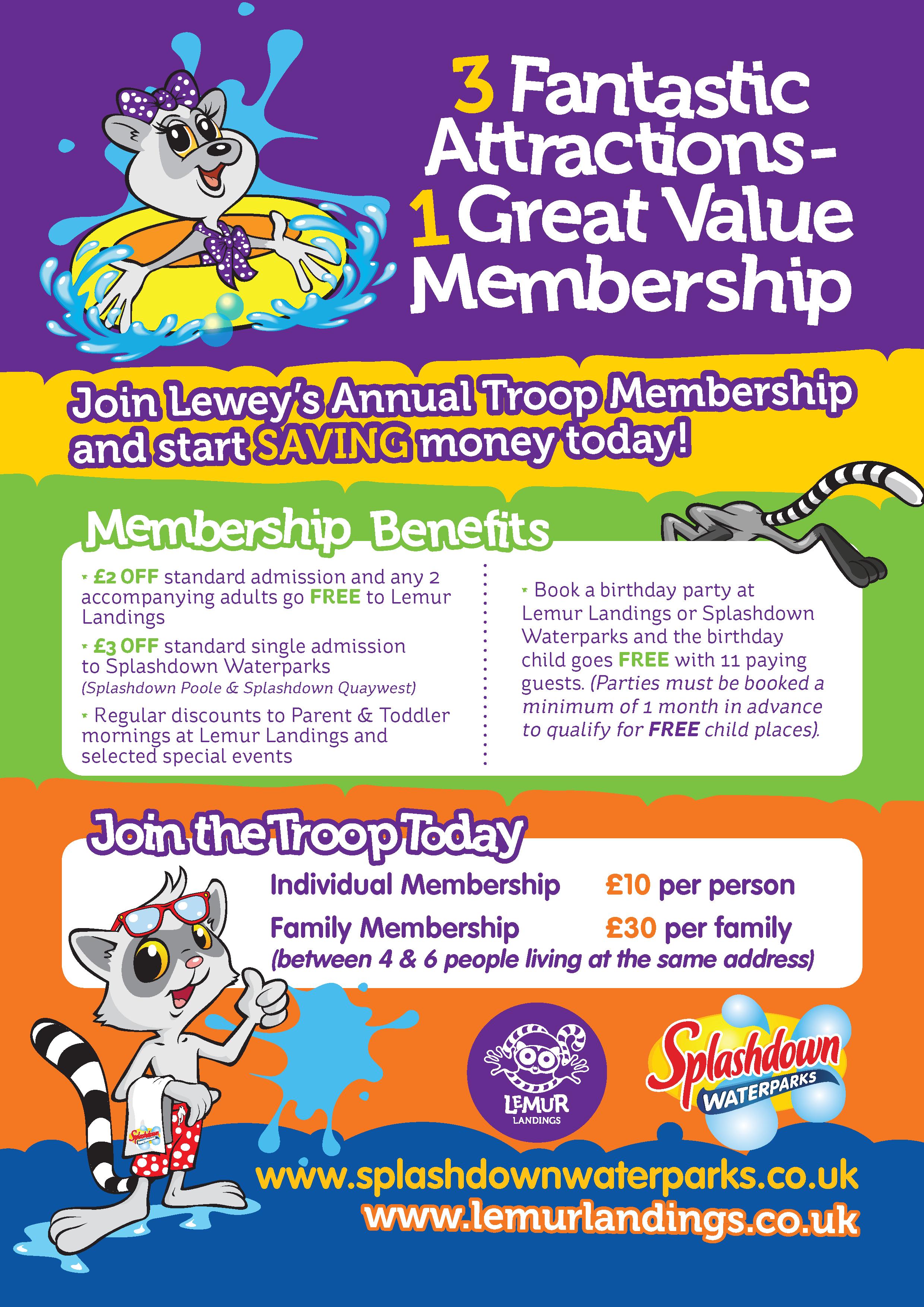 Annual Memberships at Splashdown Poole · Splashdown
