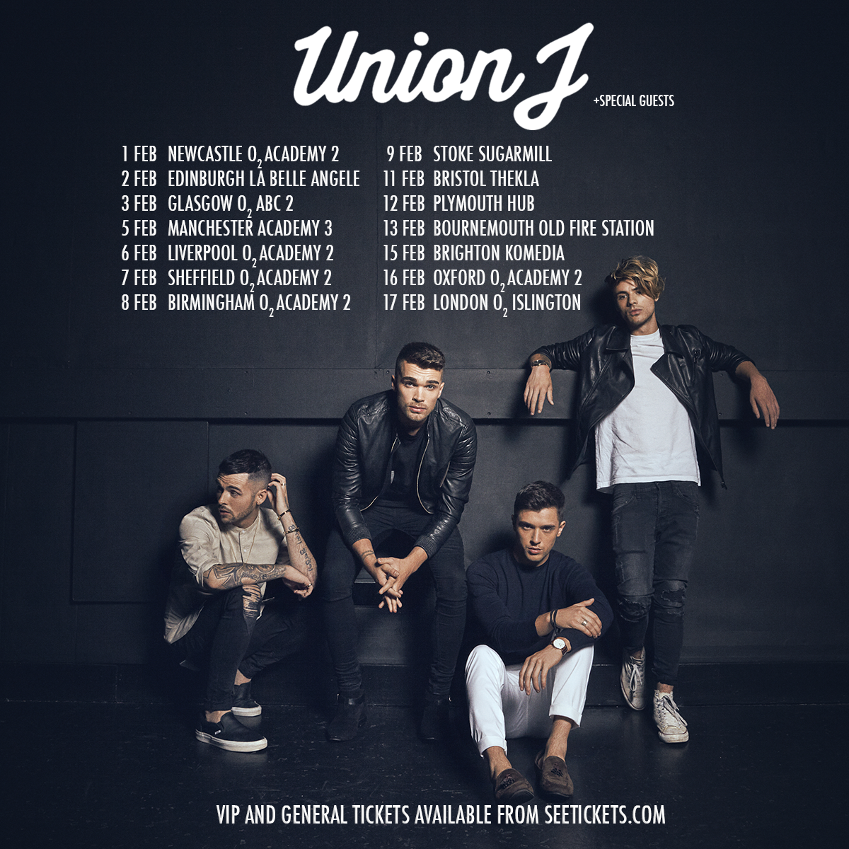 WIN Tickets to see UnionJ in Bournemouth!